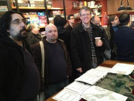 Eytan at Brooklyn Strategist for Unboxing of Gygax Magazine
